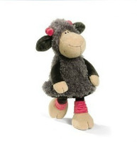 """Free Shipping 1pcs 30"""" Grey Dress Dancing Wolfskin Sheep NICI Plush Toys , High Quality Super Soft Toys For Birthday &kids Gifts"""