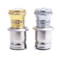 12V Crystal jewelry +metal Car Power Plug Socket Output 20mm Cigarette Lighter Ignition Two Colors For choose