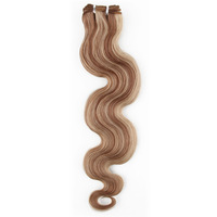 20'' Weaving Hair Extension Weft #18/613(ash blonde/bleach blonde) Mixed Hair Color Body Wave Hair Style 100g/pack