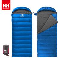 Aduit Envelope Type Sleeping Bag Duck's Down Cotton Waterproof Sleeping Bags Camping Primaloft Can Splicing Winter Cold1.6kg