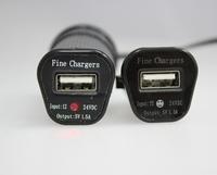 5pcs 2014 Top List Seller 5V 1Ah LED Smile Face Shape Power Efficiency Car Phone Charger For Iphone 5s For Samsung Smart Phones