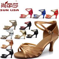 New Fashion Women's Ladies Girl's Knot Latin Tango Ballroom Salsa Heeled Dance Shoes Dancing Shoes WZSP801 7cm Heel High