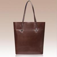 Hot! New Style Oil Wax Women Handbag Fashion Genuine Leather Women Bag 2014 Women Leather Handbag Joker Shoulder Bag Big Bag
