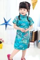 Baby Girl Dresses Kid Chinese New Year Style chi-pao qipao cheongsam gift Clothes