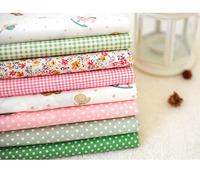 Free shipping 8pcs/set 45*50cm/pcs patchwork cotton set quilting cloth cute print tilda fat quarter bundle  free gift