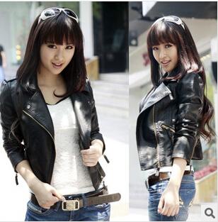 Autumn Женщины jacket puМодный brand plus Размер Черный leather jacket European ...