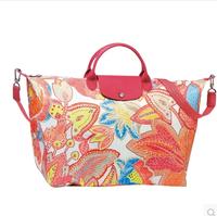 AC164 Modern Fashion Cozy Casual print flora women satchel handbag shoulder bag sling bag messenger bags cross body