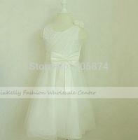 Retails 1pcs ivory White children Christmas party dress,Kids girl lace tutu princess dress, girls Wedding Dresses 1-10 year old