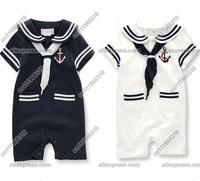 Baby Infant Kid Child Toddler Boy Girl Navy Sailor Marine Grow Onesie Bodysuit Romper Jumpsuit Outfit One-Piece Suit Costume Set