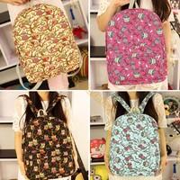 Hottest Selling Owl Pattern Printed School Packback Bags Women Ladies Casual Canvas Backpack mochila feminina B6 SV008178