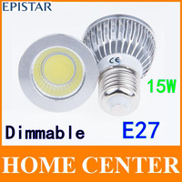 Dimmable  E27 15W COB LED Sport light lamp High Power bulb More than 120 degrees AC85-265V with tracking number