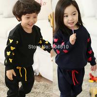 clothing set kids spring & autumn girls boys t-shirt long sleeve cartoon mouse  top + harem pants 2pieces sets  ETJ-S0377