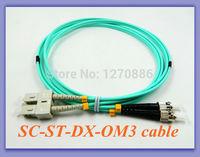 3 meter SC to STduplex OM3 fiber optic cord