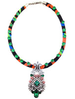 2014 Fashion Colorful rope chain chunky green acrylic chunky collar bubble statement pendant Necklace