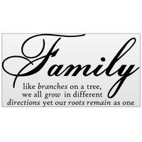 New 30*45cm Family Creativity Peel and Stick Wall Stickers Decals BK Tonsee