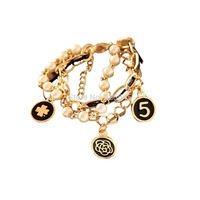 stylish and fashionable bracelet delicate clover bracelet alloy multilayered  multielements bracelet imitation pearl
