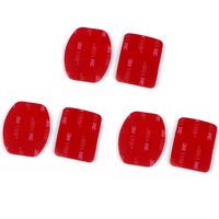 New 6PCS 3M Sticker Adhesive Pad Set For GoPro Hero 3+ 3 2 1 Helmet Mount  Tonsee