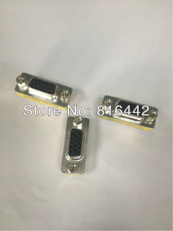 Free Shipping 10pcs/lot SVGA VGA DB15 15 Pin Female Gender Changer adapter(China (Mainland))