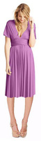 2014 New Arrival Convertible Dress Strap A-line Pleat Knee Length Bridesmaid Dresses Customize