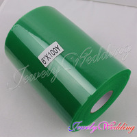 """3rolls/lot Polyester Emerald TULLE Roll Spool 6""""x100yd Tutu Wedding Gift Bow Craft If you need more color tell us"""