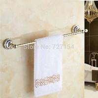 Free Shipping!  Modern Golden Towel Rack Holder Wall Mounted Towel Bar Single Lever Ceramic Base