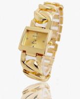 2015 New Fashion Gold White Gold Plated Metal Watch Women Ladies Dress Quartz Wristwatches TW046