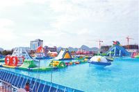 high quality metal frame swimming pool water games, large water park KKMP-L010