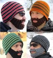 Men beard knitting wool hat Mutombo hand knitting hat autumn winter warm  ear muffs head cap beanie hat,HT0193