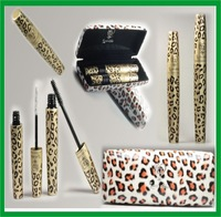 24sets=48pcs 2014 In stock New Waterproof LOVE ALPHA Double Brand Mascara with Panther Leopard Case Mascaras