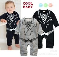 2014 Autumn Winter new baby clothes baby boy space suit gentleman Romper jumpsuit macacao roupas de bebe recem nascido menino