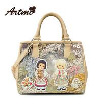 For ar tmi2014 women's spring handbag sweet casual print bag large vintage cross-body handbag