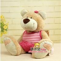 "Free Shipping 1pcs 12.6"" Wear Stripe Vest Bear NICI Plush Toys High Quality Super Soft Toys For Birthday kids Gifts"