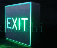 NOS Emergency Lighting Equipment KXTEU 1RWWEM 120VAC LED Exit light sign