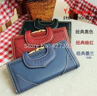 Hot Selling Women Genuine Leather Long Wallet New Fashion 18 Colors Cowhide Leather Lady Purse U Design Women Wallets 3311014-2