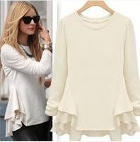 New FashionThe new big stitching chiffon long-sleeved T-shirt SK066737