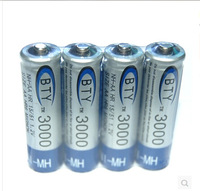 New 2014 High Quanlity  BTY Ni-MH AA 3000mAh 1.2V Rechargeable 2A Battery  8PCS