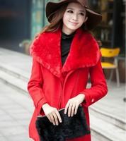 2014 new European and American fashion thick winter coat Nizi woolen coat two-piece women's  NDZ150 Y9W
