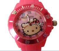 Wholesale 7 style hello kitty children Dress Watches Fashion Silicone Watch reloj de pulsera Wholesale Free Shipping