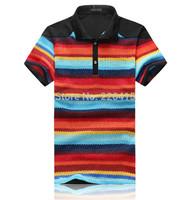 Free Shipping 2014 Fashion men polo shirt cotton camisa polo Jump-color hollow polo ralph men 3 colors