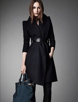 2014 Hitz European and American big woolen jacket Women Slim thin woolen coat wool coat  NDZ151 Y9W