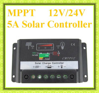 Hot Sell  5A  12V/24V MPPT Solar Charge Controller Fit Solar Panel Battery Regulator Auto Switch,not full mppt function