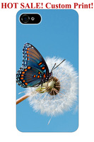 hard blue sky dandelion floral butterfly pattern design art 5 5S 5C 6 4 4S cover protector for iphone 5 case butterfly design