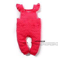Baby female child one-piece dress bib pants single tier line pants bib pants romper children's clothing trousers