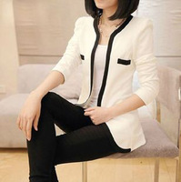 New 2014 Spring Autumn Women Blazer Fashion Long Sleeve Casual Suits Slim Solid Plus Size Jackets Women Coat Clothing