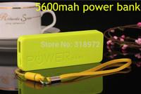 Ultra-thin Perfume 5600mAh USB External Battery Power Bank for iPhone iPod Samsung HTC + Micro usb cable Retal box 100pcs/lot