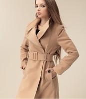 2014 spring autumn winter new Korean Women Slim double-breasted woolen coat and long sections woolen coat  NDZ160 Y9W