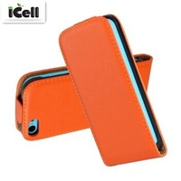 Genuine Leather Case For iphone 5C , Flip Real Leather Cover For Iphone5C ,50pcs/lot DHL free shipping
