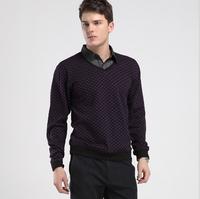 New Fashion Men's Long-sleeved Slim Fit tshirts Winter New Men's Business Casual Slim Cutting t-Shirts HUHD3C039