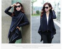 2014 Autumn New Europe And America Style Plus Size Slim Woollen Coat Women Fashion Solid Coats WA-0001
