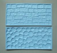 One Set Beautiful Stone and Brick Shape cake fondant Mould Cookware Dining Bar Non-Stick Cake Decorating fondant mold--C362
